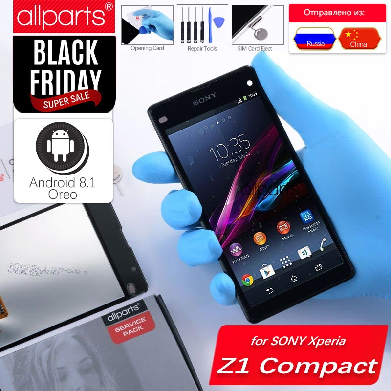 Original LCD für SONY Xperia Z1 Kompakte Display Touchscreen mit Rahmen Für SONY Xperia Z1 Compact LCD Display Mini d5503 M51W