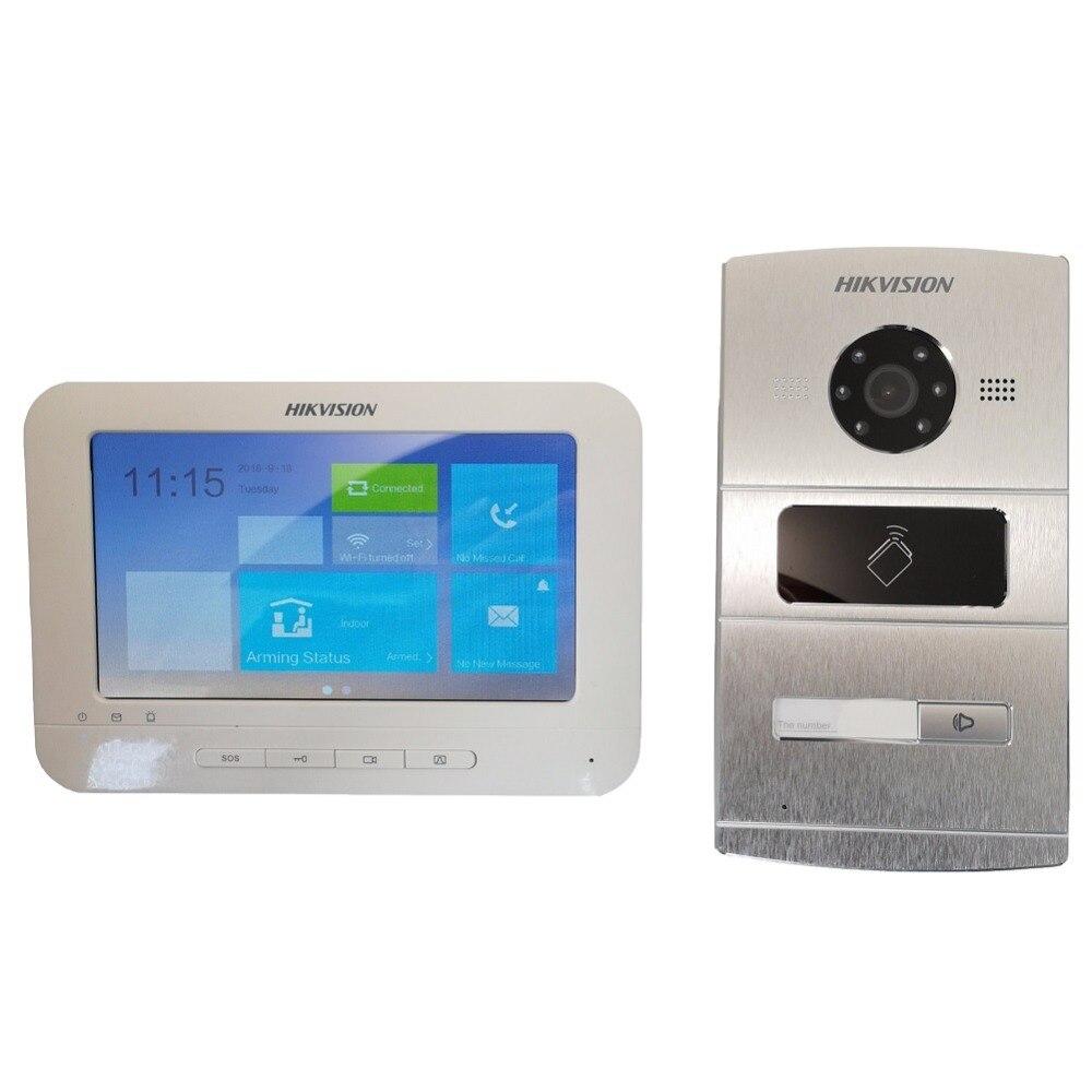 Hik Vidéo kit d'interphone DS-KV1102-1A DS-KH1310-AL, IP Sonnette, IP porte téléphone, Hik-Connecter, staion extérieure et Intérieure moniteur