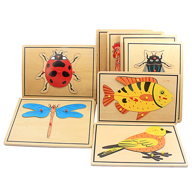 Baby Toy Kids Montessori Science Toys Animals Puzzle for Children Wood for Early Childhood Education Preschool Training Learning