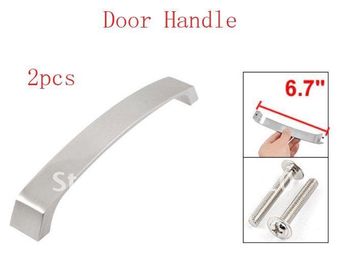 2 Pcs Furniture Hardware Replacement Arc Metal Door Pull