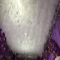 New Arrival White Cloud Top Snow Yarn Wedding Ceiling Decoration Sheer For Wedding Event Centerpieces Decor Supplies