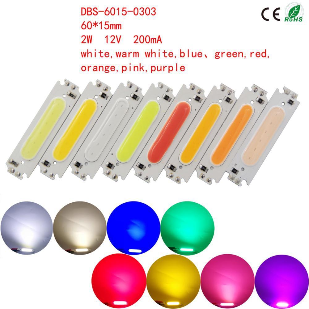 COB puce lumière LED panneau bande Source projecteur feux de sol 12 V 60X15mm haute luminosité respectueux de l'environnement bricolage