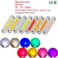 COB Chip luz LED Panel tira fuente foco luces de suelo 12 V 60X15mm alto brillo respetuoso con el medio ambiente DIY