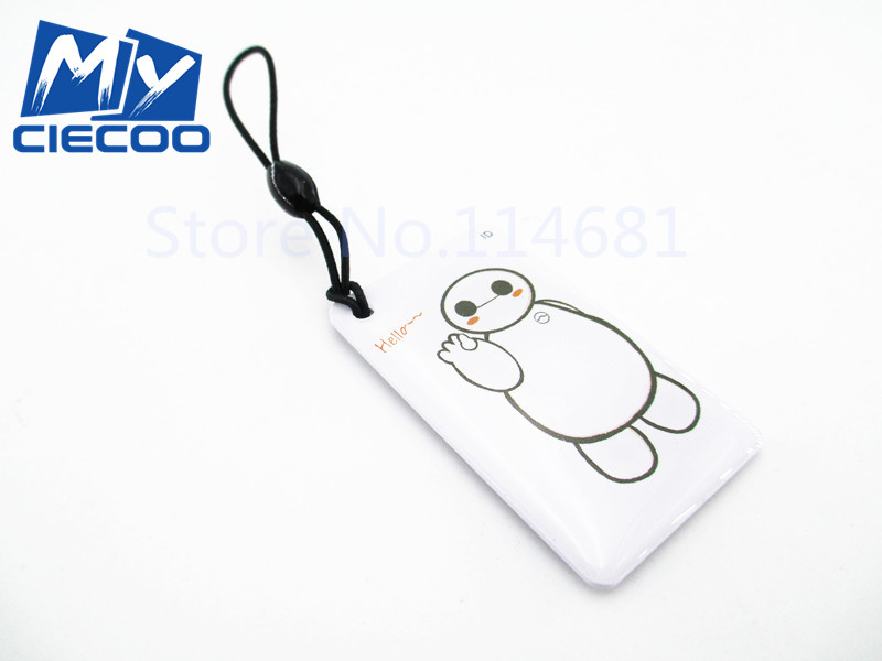 free shipping 10pcs  125Khz RFID Readable and writable Key Tags Cartoon  Rewritable ProximityID Key Card for  Access control