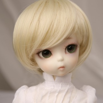 Free Shipping 1/3 1/4 1/6 Bjd SD Doll Wig High Temperature Cute Short Blonde For BJD Doll Hair newest 1 3 1 4 1 6 bjd sd doll wig wire light blonde colors high temperature bjd super dollfile for doll hair wig