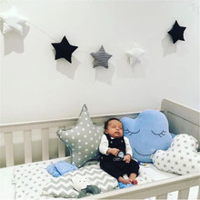 New ins Nordic star string ornaments childrens room decoration crib bedroom wall with