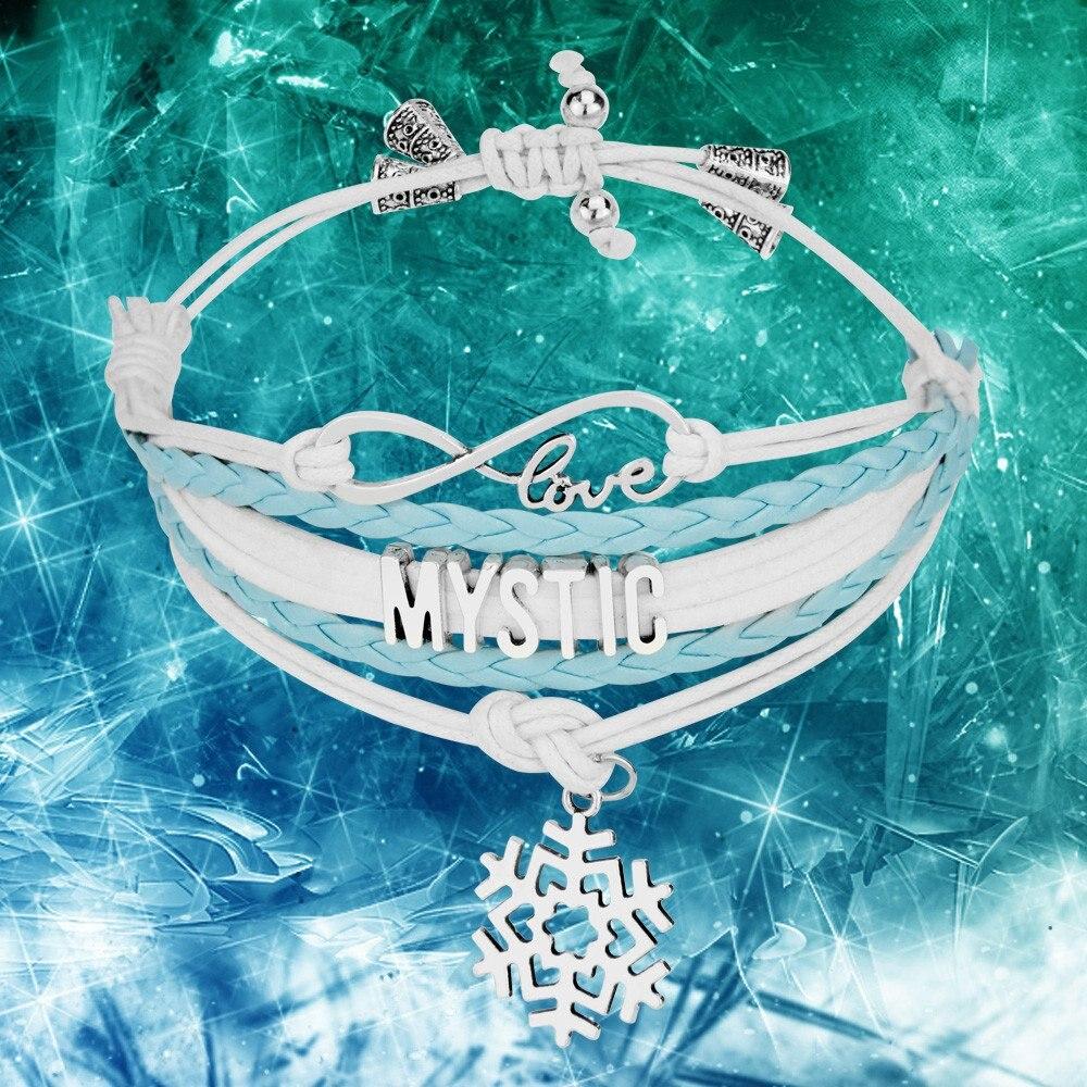 New Style Infinity Love Mystic Snow Charm Customized Wristband Friendship Bracelets