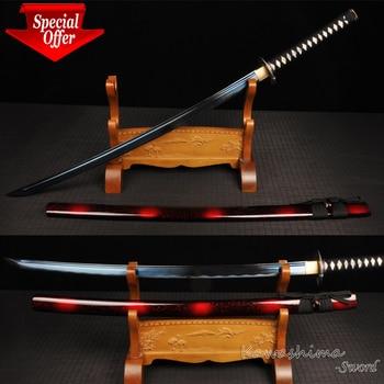 Japanese Katana Handmade 1045 Carbon Steel Blade Sharpness Blue Plating Surface Samurai Sword Martial Art-41 INCH