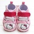 2017 Rosa Sapatos de Bebê Da Criança Interior Macio Não-deslizamento sapatos Prewalkers Meninas Moda Sneakers Venda
