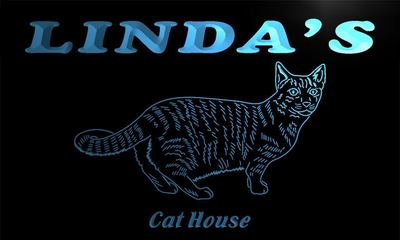 x2003-tm Lindas Cat House Custom Personalized Name Neon Sign Wholesale Dropshipping On/Off Switch 7 Colors DHL