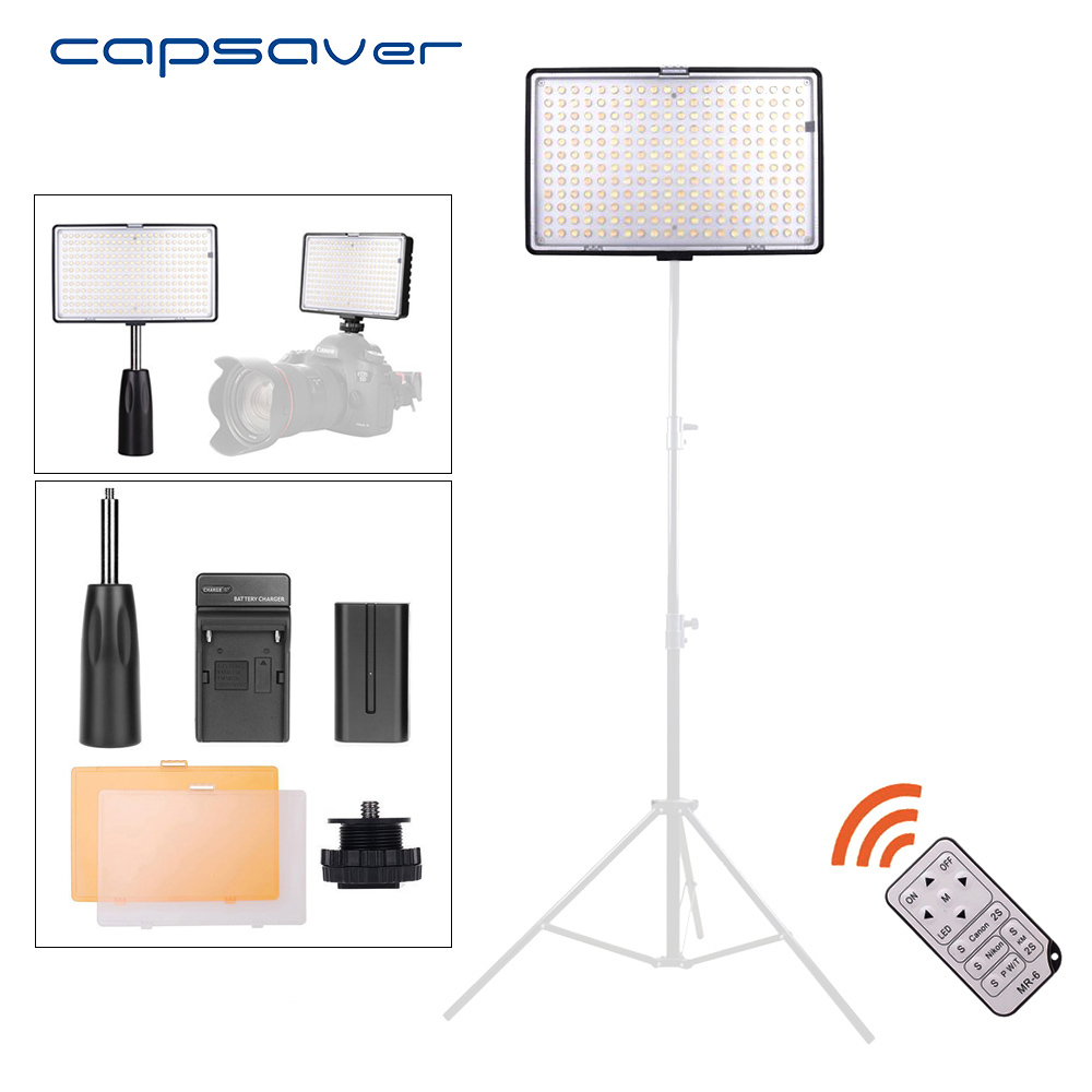 capsaver TL-240S LED Video Light Handheld Studio Light Panel Lamp 3200K/5600K CRI93 240 LEDs Photography Lighting for Photo spash tl 240s 1 set led video light with tripod stand cri 93 3200k 5600k studio photo lamp led light panel photographic lighting