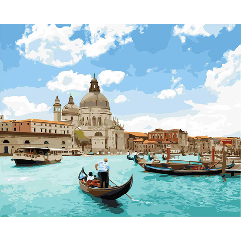 Painting By Numbers DIY Adriatic Sea Landscape Decor Art Living Room Coloring By Numbers Modular Living Room Decor Art