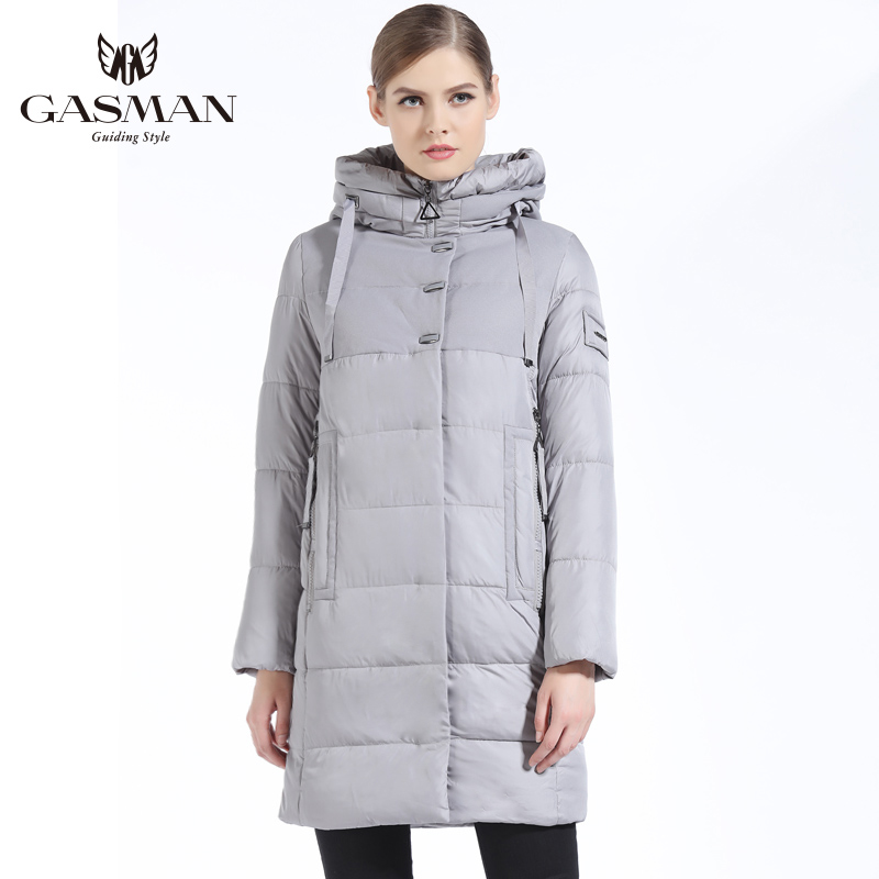 GASMAN New Winter 2018 Fashion Down Jackets And Coats Hooded Long Bio Down Parka Brand Casual