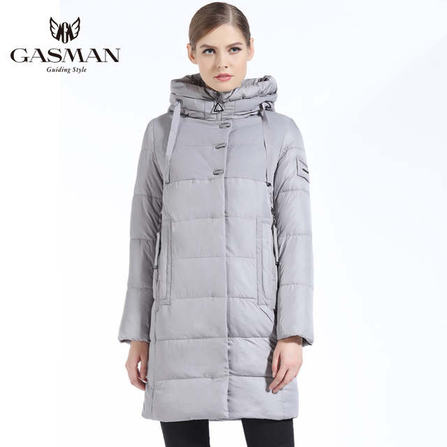 Best Offers GASMAN New Winter 2018 Fashion Down Jackets And Coats Hooded Long Bio Down Parka Brand Casual Overcoats Female Jacket Winter