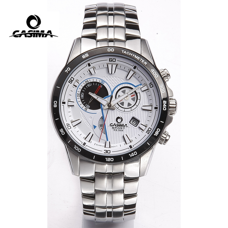 CASIMA Brand Men Watch montre homme Military Sport Quartz Wristwatch Multi-functional Waterproof Watch Men reloj hombre relogio casima luxury brand sport quartz watches men reloj hombre fashion silicone band100m waterproof men watch montre homme clock