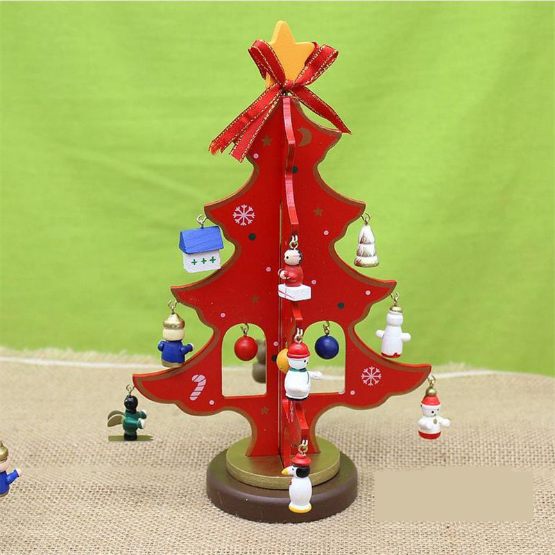 Christmas Tree Toys Handmade.Us 8 44 5 Off 19 16cm New Beautiful Christmas Wooden Toys Ornaments Handmade Trees Gifts Hotel Adornments On Table In Blocks From Toys Hobbies On