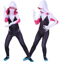 Girls Fantasia Zentai Spider Woman Cosplay Kids Spiderwoman Costume Jumpsuit Halloween Superhero Party Bodysuit Fancy Outfits