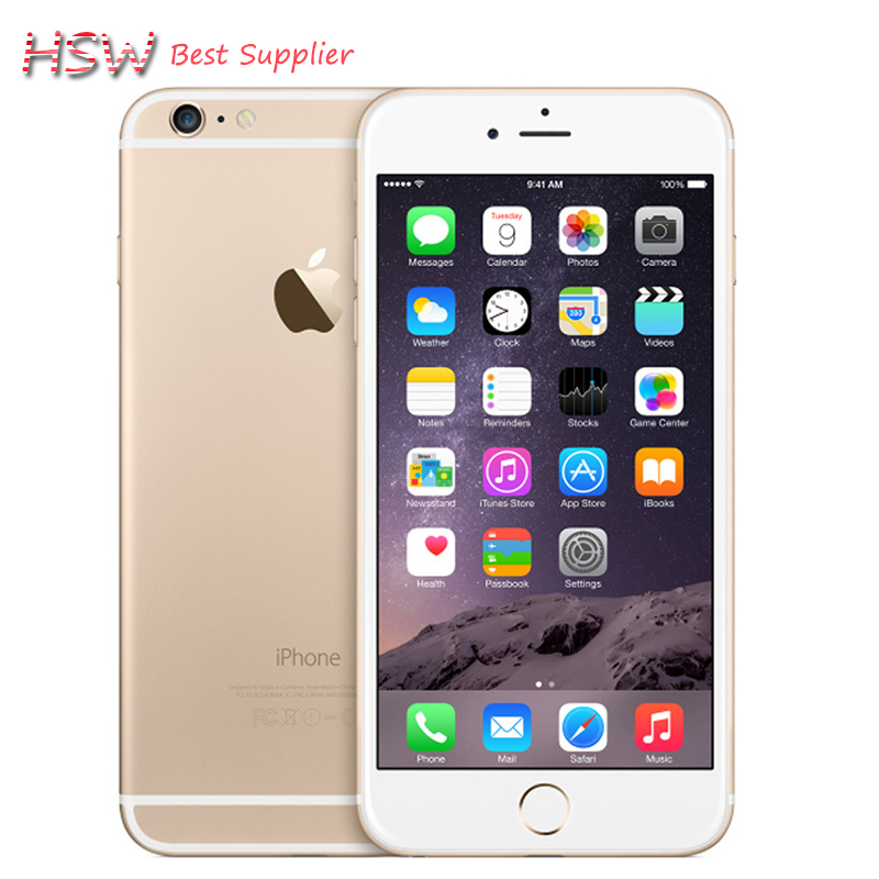 Unlocked Original Apple iPhone 6 plus Class A quality IOS Dual Core 2GB RAM 16/64/128GB ROM 5.5'' 8.0MP Camera LTE Cell Phone