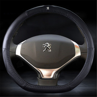 HOT SALE Genuine leather Car Steering Wheel Covers Fit for Peugeot 408/307/308S/3008/301/508
