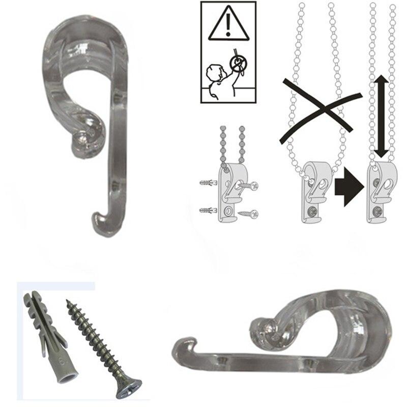 5 Pcs Child Safety Blinds Hook Clip For Zebra Vertical Roman Roller Blind