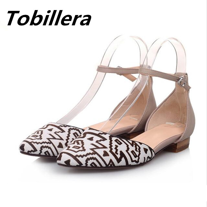 Tobillera 2017 Summer Spring Horsehair Pointed Toe Ankle Buckle Flats Comfortable Dress Shoes Fashion Leopard Print Footwear enmayer print round toe plain elastic band shoes for girls horsehair genuine leather flats spring summer closed toe women flats