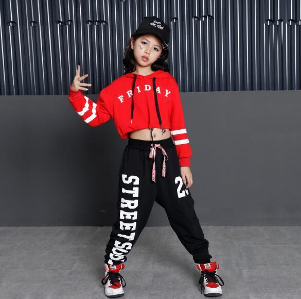 2018 Spring Autumn Children Hip Hop Dance Costumes Girls Boys Jazz Hip hop Dance Clothes Wear Suit for Kids 6 8 10 12 Years girls belly dance wear clothes kids dance costume indian dance wear for children 4pcs set