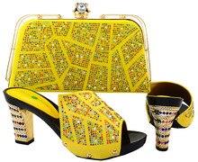 African Schuh und Tasche Set für Party Frauen Schöne Designs Absatzhöhe 11,5 cm Italienische Passenden Schuh und Tasche Set Top. HJT1-27