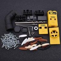 Binoax NEW Mini Pocket Hole Drill Dowel Jig W Step Drilling Bit Woodworking Tool Kit DIY