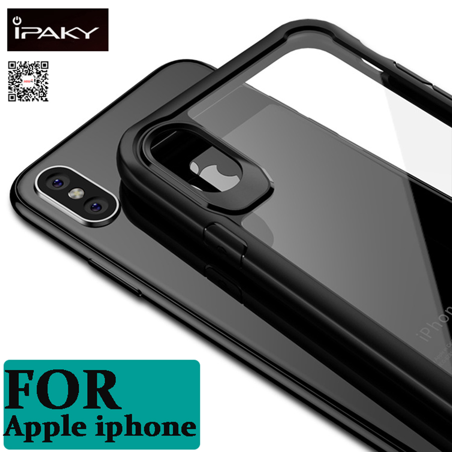 iPaky Super Drop resistance Armor anti hit Cover Case For iPhone 6 7 8 Plus For iphone X Shock-proof