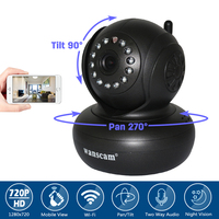 Wanscam WiFi Wireless P2P CCTV Security 1 0MP HD 720P IP Camera Motion Detection Pan