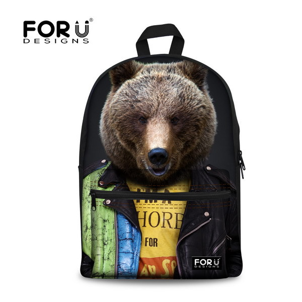 Fashion Kids Animal School Bag Children School Bag for Teenagers 3D Panda Backpack Women Russia Bear Book Bags Bolsas