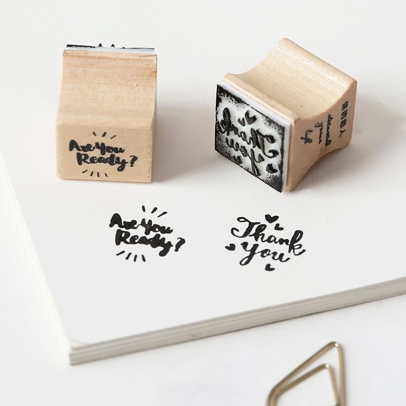 Hot Selling Letter Lovers Wooden Stamp Packing Series Log Rubber Lovers Photo Album Diary Decoration DIY For Card Making