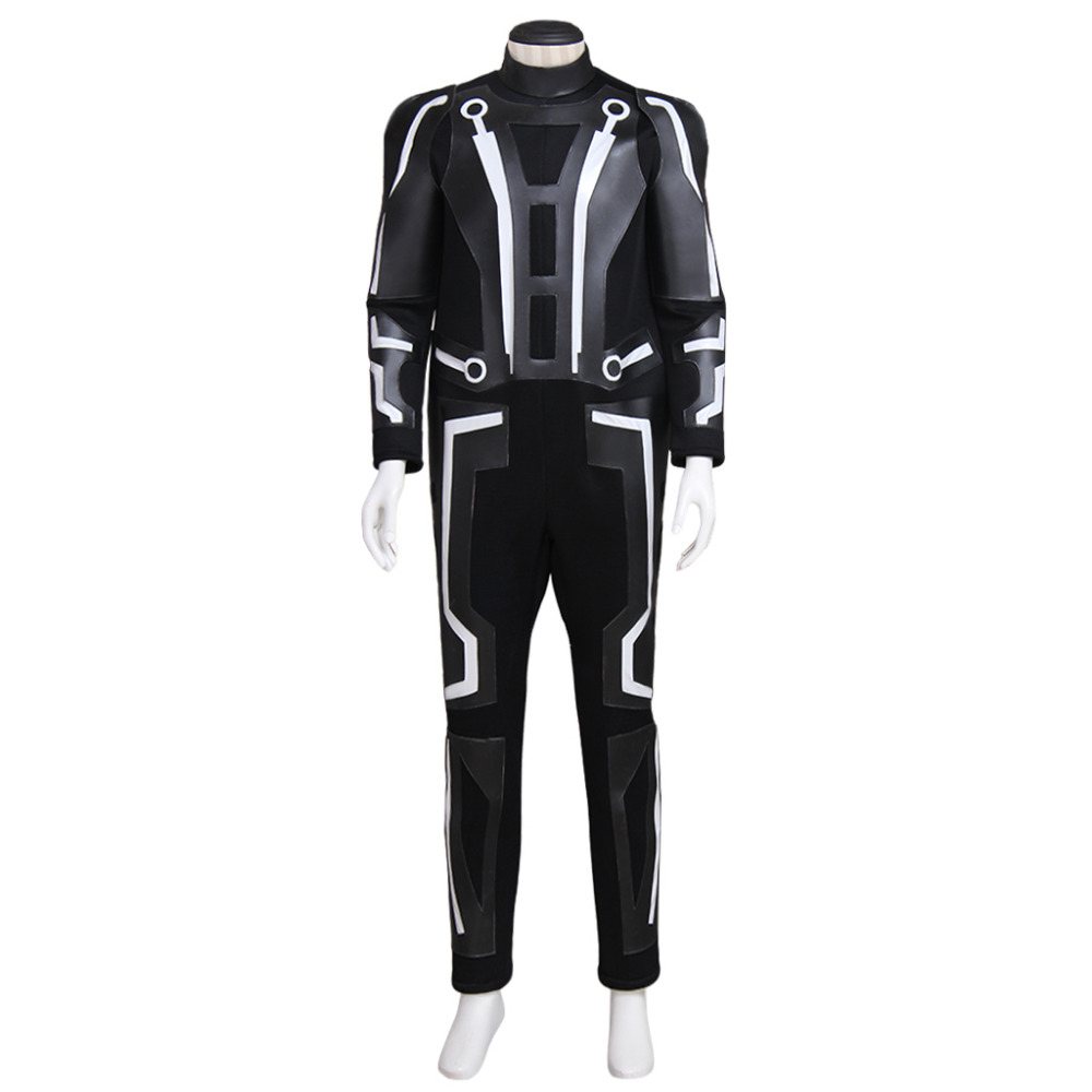 Tron Legacy Sam Flynn Costume Clothing Adult Men's Jumpsuit Cosplay Costume Custom Made disguise inc tron legacy identity disk