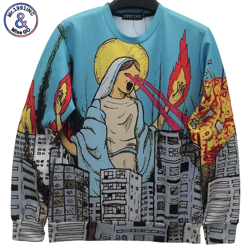 Mr.1191inc NEW Fashion 3D print sweatshirts men/women's prins