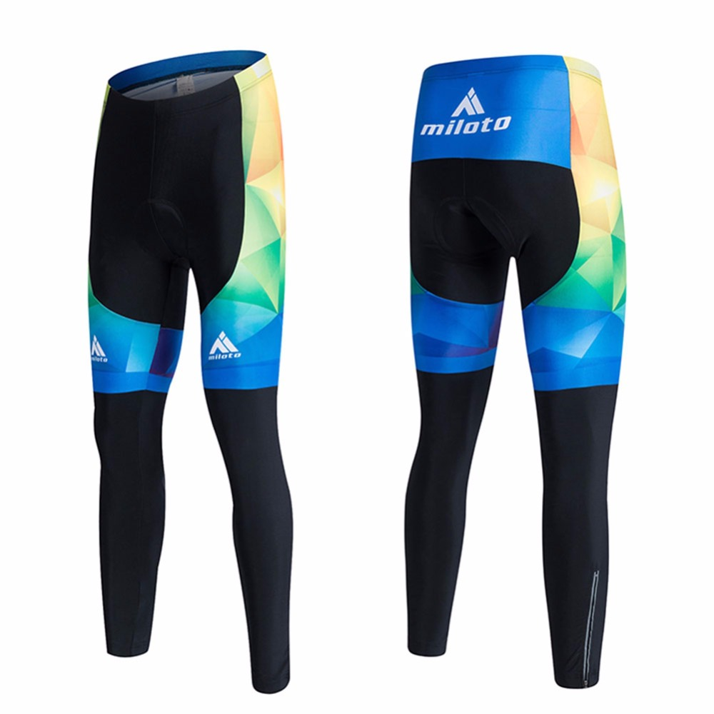 Spandex Men Cycling Pants Padded Cycling Tights Reflective Compression Cycling Trousers 2018 Pro MTB Bike Bicycle Pants