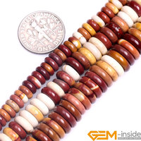 Yellow Red Natural Mookaite Jaspers Heishi Rondelle Spacer Beads Natural Stone Beads Loose Beads For Jewelry