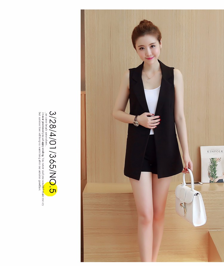 Good Quality Elegant Women Vest Jacket Office Work 2016 New Casual Slim Blazer Sleeveless Lady Suit Vest Coat with Lining