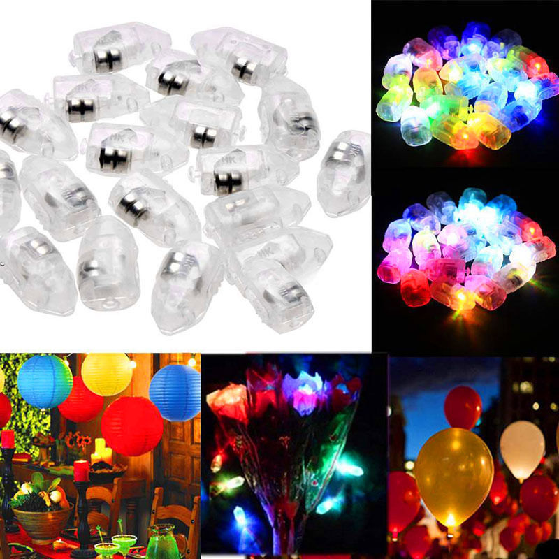 1/10/20/30 Mini Small LED Flash Balloon Lamps For Lantern Christmas Wedding Birthday Party Decor Light White, Multi-color, Blue(China)