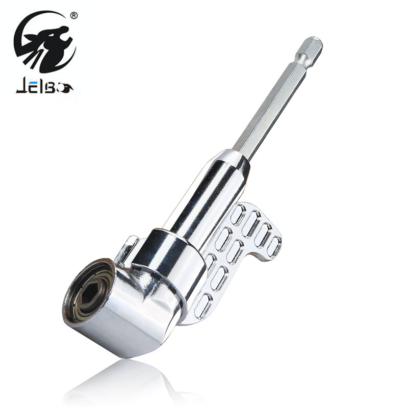 Jelbo 105 Degree 1/4 Inch Hex Angle Driver Extension Power Screwdriver Wrench Socket Holder Adapter Electric Drill Spanner цена