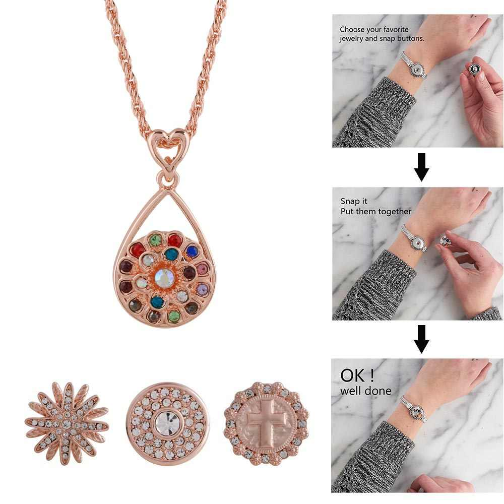Detail Feedback Questions About Rose Gold Silver Color Snap Pendant
