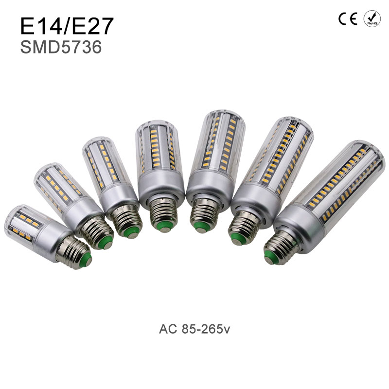 High power Corn lamp LED Bulb E27 220v Ampoule led lamparas SMD5736 E14 110v 3.5W 5W 7W 9W 12W 15W 18W 20W Aluminum Radiator