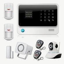 Chuangkesafe Беспроводной GSM Главная Охранной Сигнализации IOS Android Управления С Ip-камеры, Wi-Fi Alarme Maison