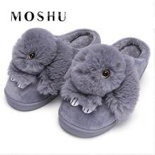 6ccca36b0a9d Women Winter Home Slippers Ladies Rabbit Animal Prints Fur Warm Slides  Indoor Soft Casual Shoes for Women Sandals Plus Size