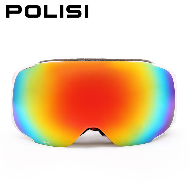 POLISI Men Women Snowboard Snowmobile Goggles Skiing Skate Snow Glasses UV400 Replaceable 2 Lenses Anti-Fog Protective Eyewear polisi men women snowboard ski goggles uv protection anti fog double layer lens esqui snow glasses outdoor sports skate eyewear