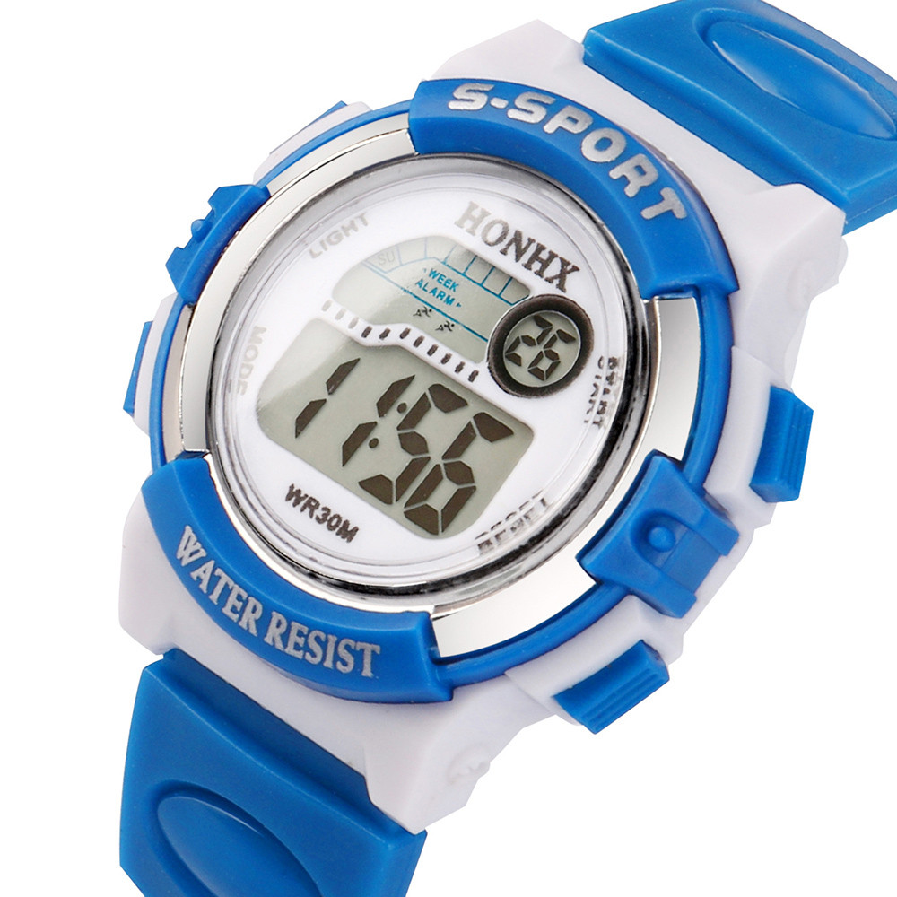 Watch Digital Girl Sports Electronic Child Students for Boy Sky-Blue Multifunction Men's
