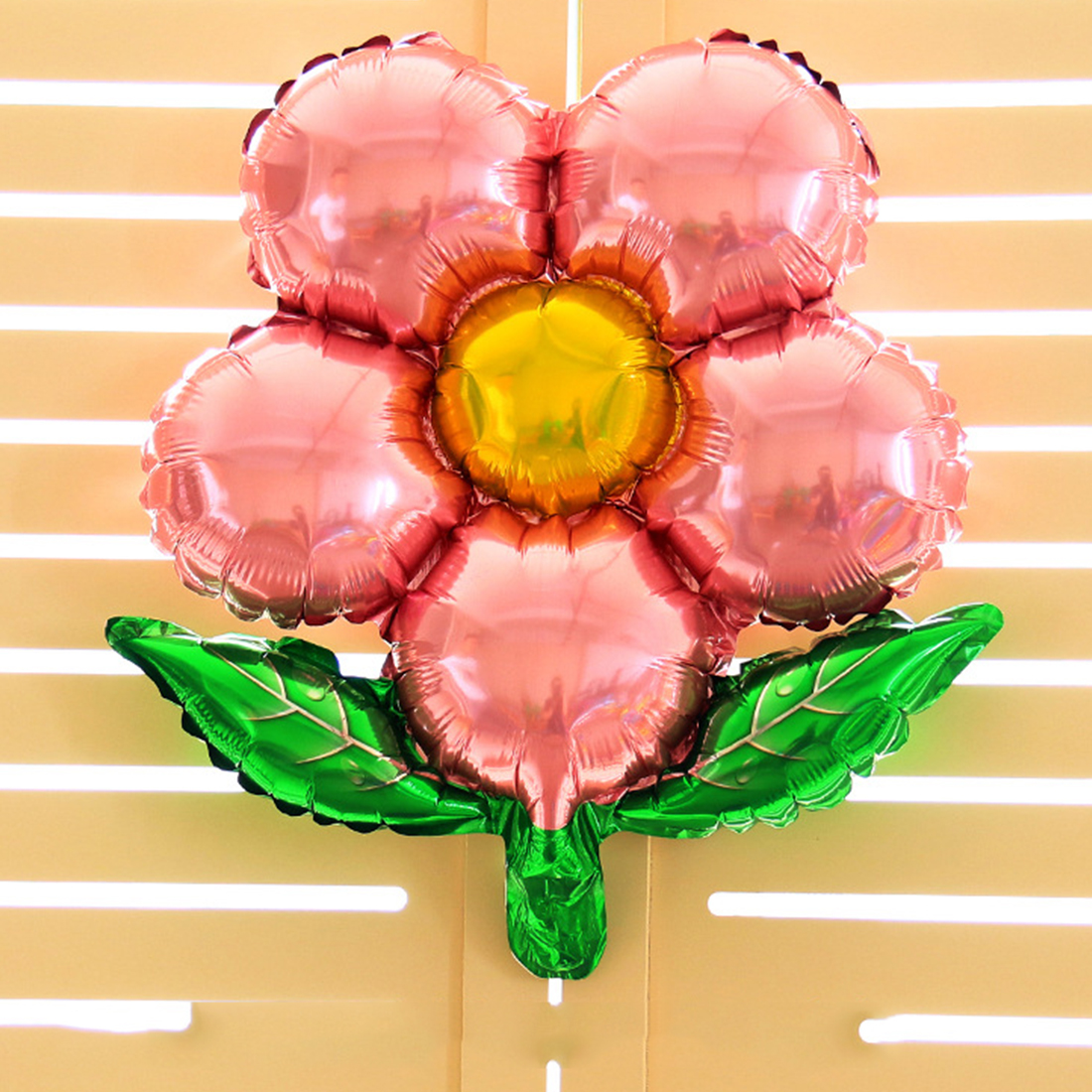 hot unids flores globos en forma de globos de papel de aluminio fiesta de cumpleaos