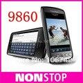 9860 abierto original blackberry torch 9860 teléfono móvil, 3g, wifi, gps, 5.0mp, pantalla táctil, PIN + IMEI Válido