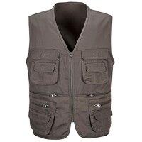 Wholesale Multi pocket Photography Vests For Men Fashion Journalist Vest Vintage Male Vest Waistcoat Coats Free Shipping S260