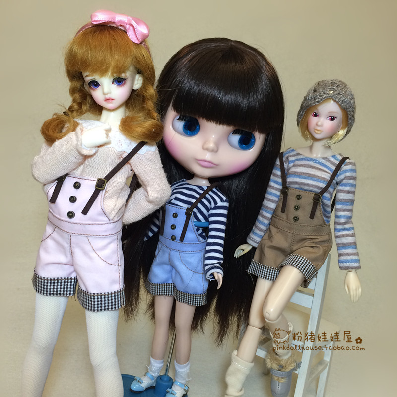 1/6 Azone Licca Blyth Doll Clothes Accessories Fashion Strap Shorts For Blyth Doll 30cm Doll Clothing Accessories