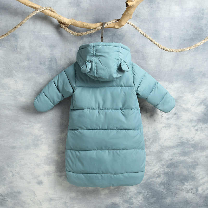 b07ccbca7a9 ... 2018 Winter Thicken Baby Rompers Overalls Bodysuit Baby Clothes  Jumpsuit Newborn Girl Boy Down Cotton Snowsuit ...